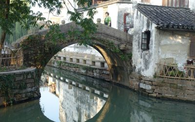 Feng Shui images – reflections in water – China trip