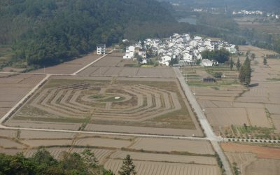 Feng Shui maps on the ground – China trip