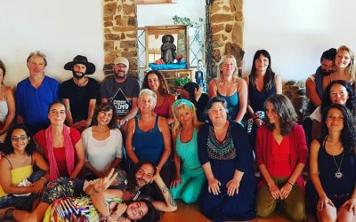 Holding workshops at 'One World' festival in Portugal