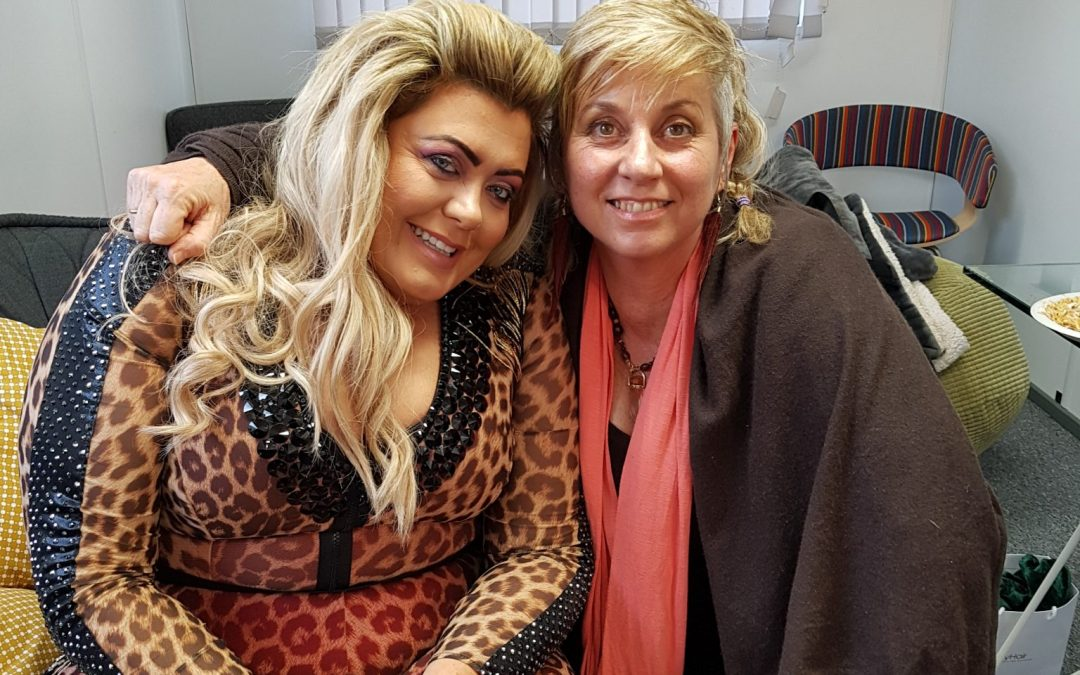 Healing session for Gemma Collins before performing on ITV's Dancing on Ice